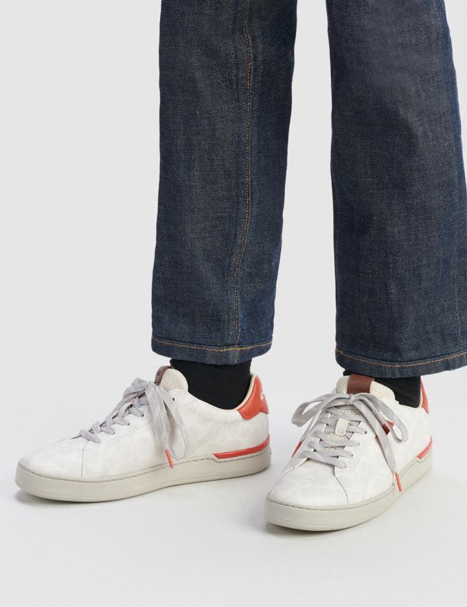 Coach Lowline Low Top Sneaker Chalk Mango Men Shoes Trainers Alternate View 4