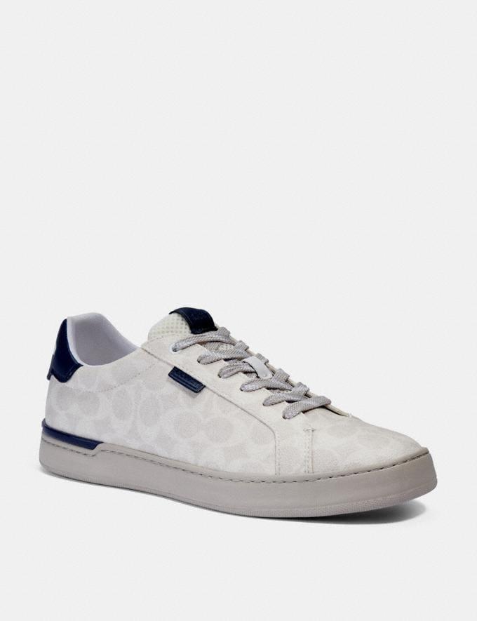Coach Lowline Low Top Sneaker Chalk Cobalt Men Shoes Trainers