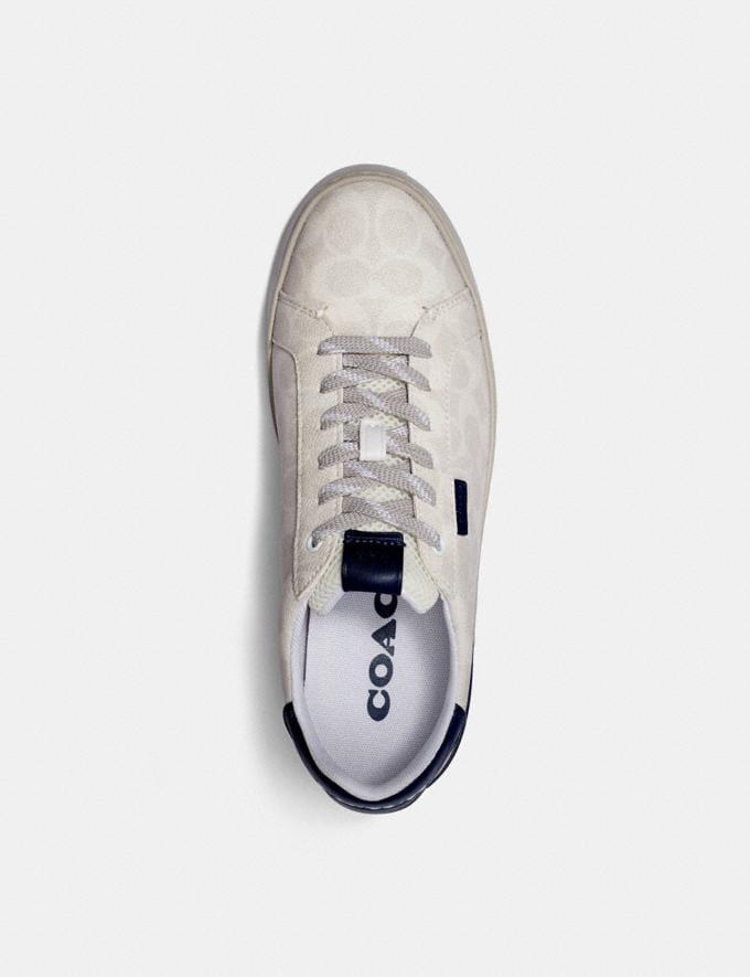 Coach Lowline Low Top Sneaker Chalk Cobalt Men Shoes Trainers Alternate View 2