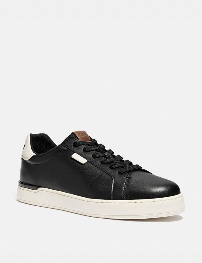 Coach Lowline Low Top Sneaker Black/Chalk Men Shoes CitySole