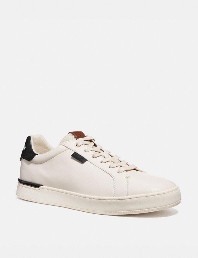 Coach Lowline Low Top Sneaker Chalk/Black New Men's New Arrivals Shoes