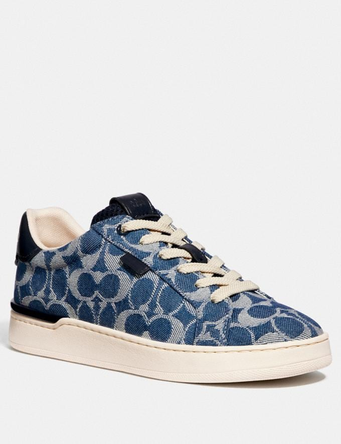 Coach Lowline Low Top Sneaker Denim New Women's New Arrivals Shoes