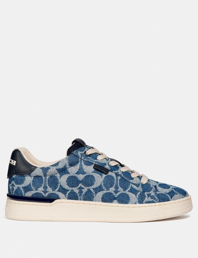 Coach Lowline Low Top Sneaker Denim New Women's New Arrivals Shoes Alternate View 1