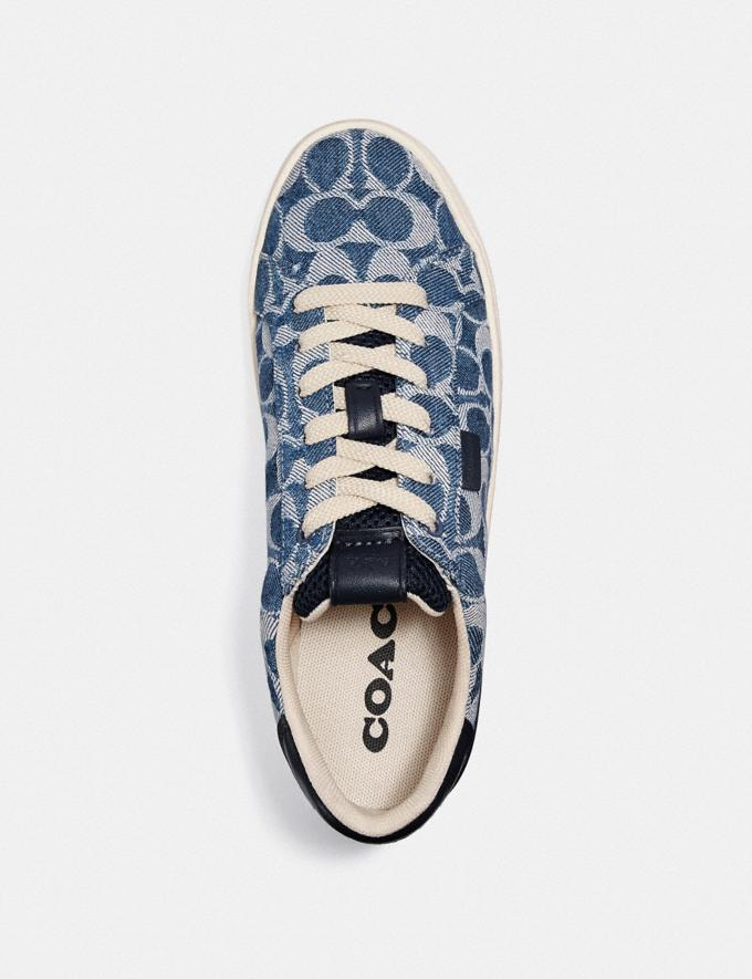 Coach Lowline Low Top Sneaker Denim New Women's New Arrivals Shoes Alternate View 2