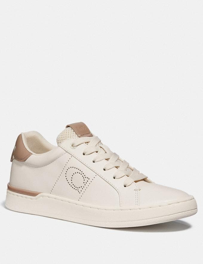Coach Lowline Low Top Sneaker Chalk/Taupe Women Shoes Trainers