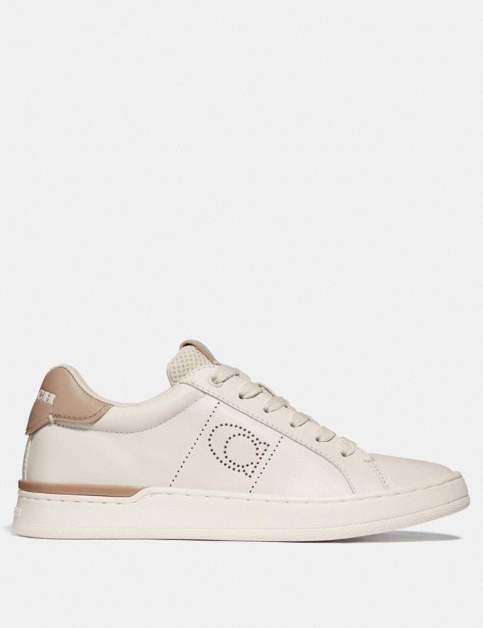 Coach Lowline Low Top Sneaker Chalk/Taupe Women Shoes Trainers Alternate View 1