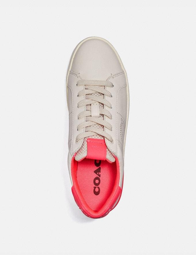 Coach Lowline Low Top Sneaker Chalk/Neon Pink New Women's New Arrivals Alternate View 2