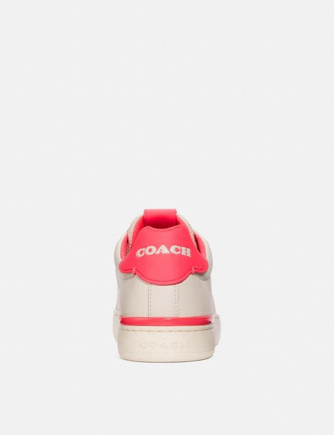 Coach Lowline Low Top Sneaker Chalk/Neon Pink New Women's New Arrivals Alternate View 3