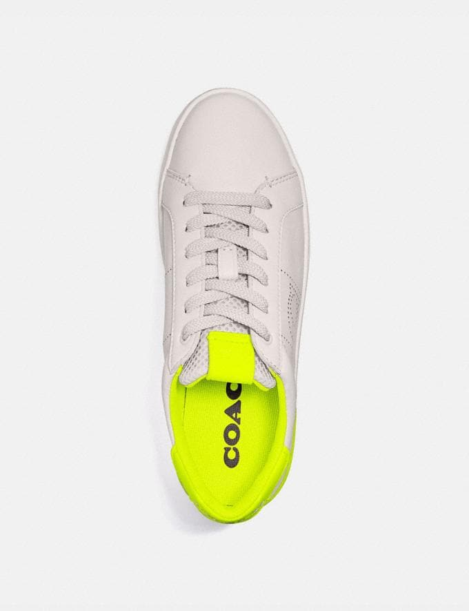 Coach Lowline Low Top Sneaker Chalk/Neon Yellow Women Shoes Alternate View 2