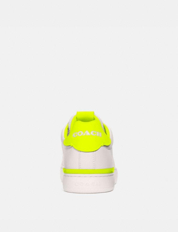 Coach Lowline Low Top Sneaker Chalk/Neon Yellow Women Shoes Sneakers Alternate View 3