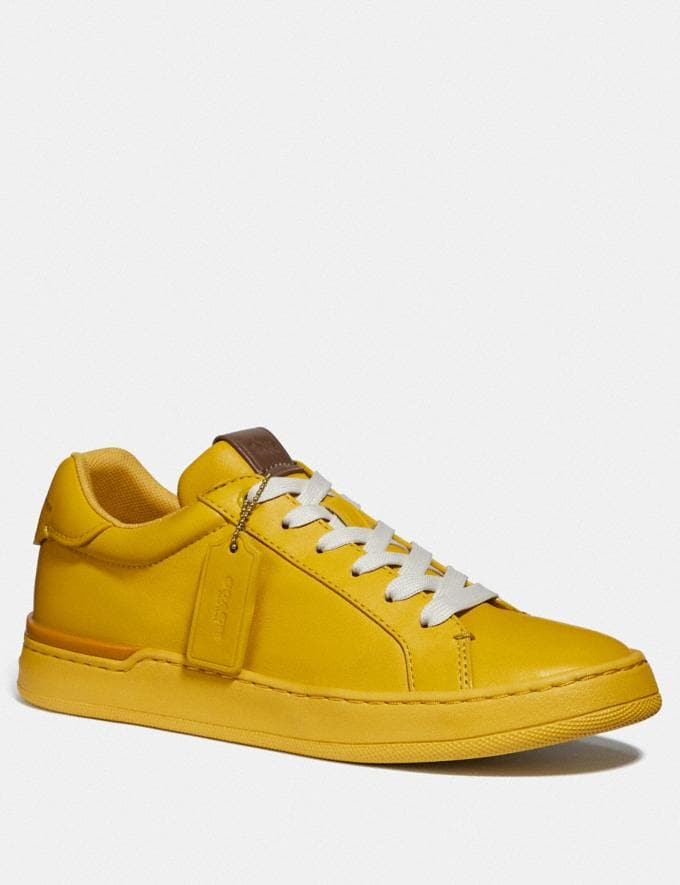 Coach Lowline Luxe Low Top Sneaker Lemon New Women's New Arrivals Shoes