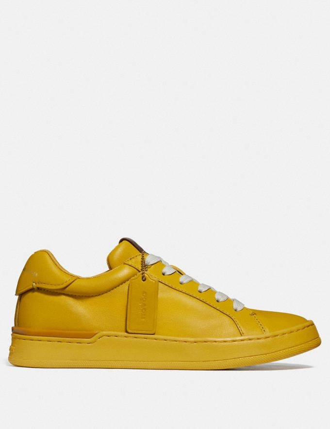 Coach Lowline Luxe Low Top Sneaker Lemon New Women's New Arrivals Shoes Alternate View 1