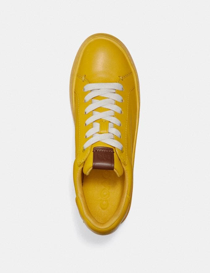 Coach Lowline Luxe Low Top Sneaker Lemon New Women's New Arrivals Shoes Alternate View 2