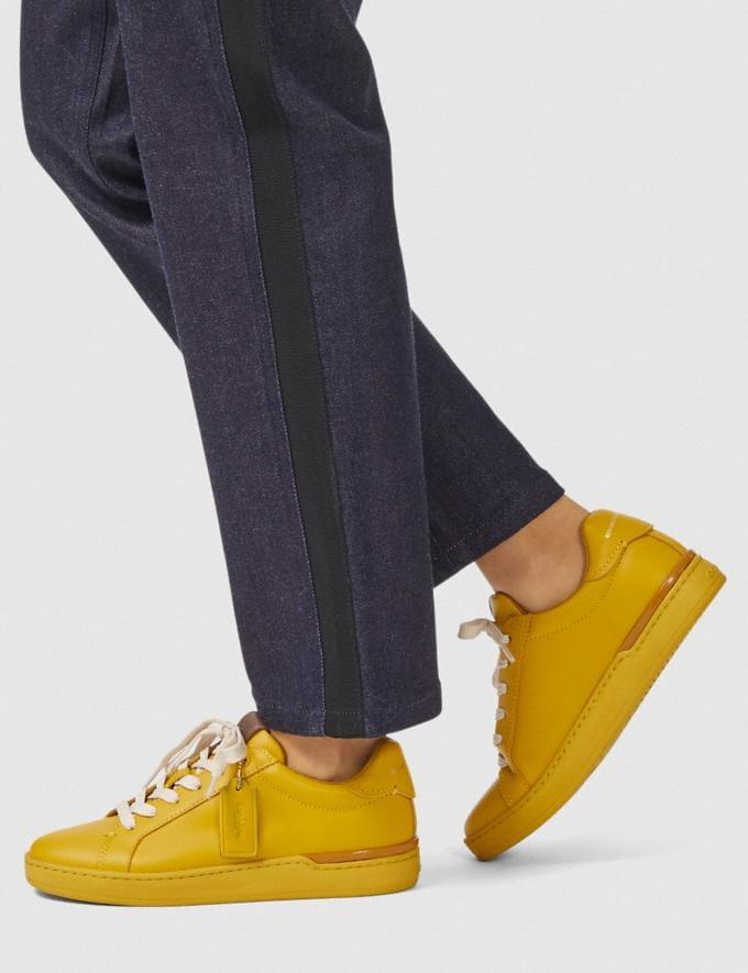 Coach Baskets Basses Lowline Citron Femme Chaussures Tennis Autres affichages 4