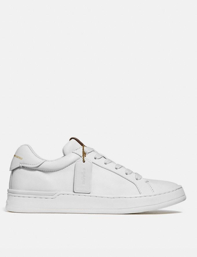 Coach Lowline Luxe Low Top Sneaker White Women Shoes CitySole Alternate View 1