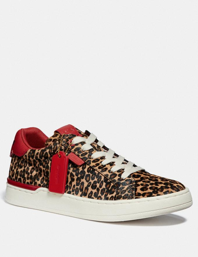 Coach Lowline Luxe Low Top Sneaker Natural/Jasper New Featured CitySole For Her