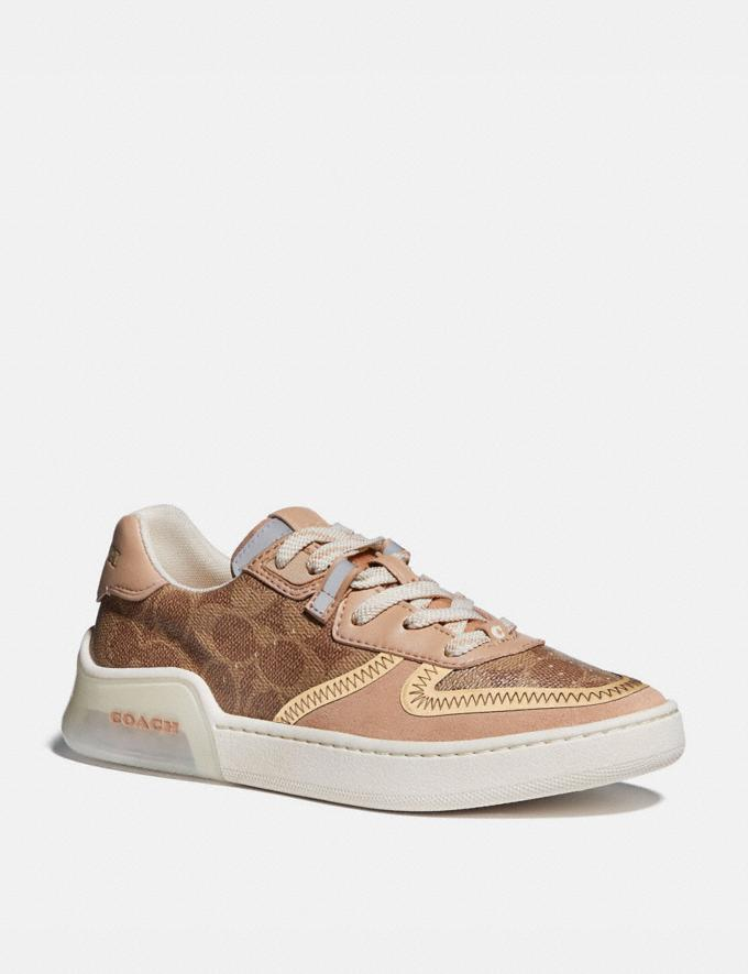 Coach Citysole Court Sneaker Tan/Beechwood New Featured Jennifer Lopez's Picks