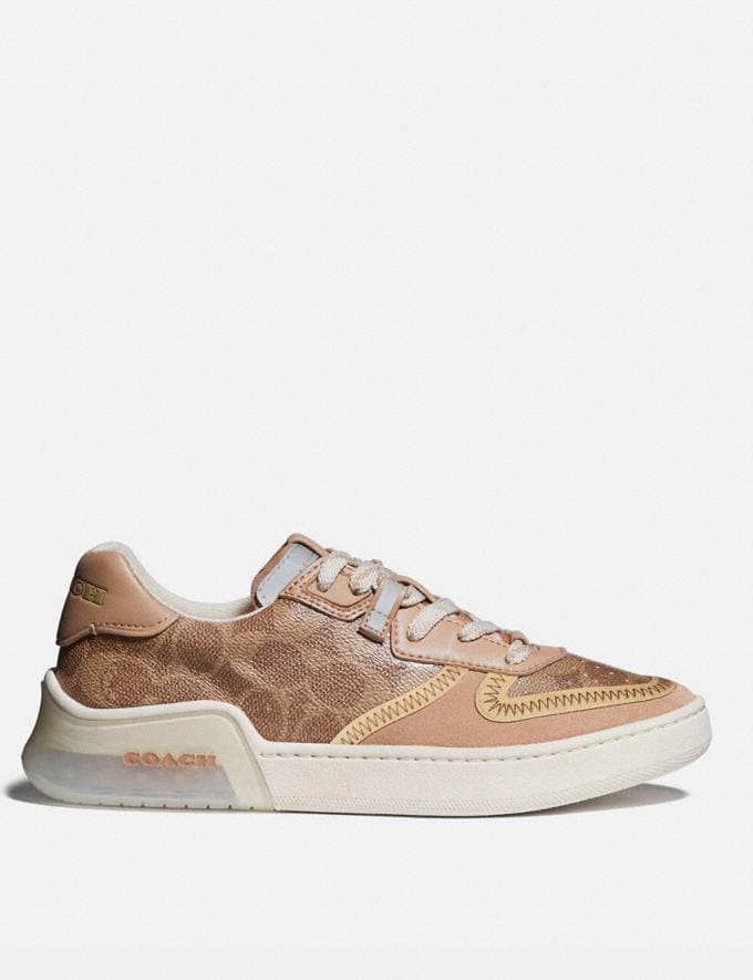 Coach Citysole Court Sneaker Tan/Beechwood Women Shoes Trainers Alternate View 1