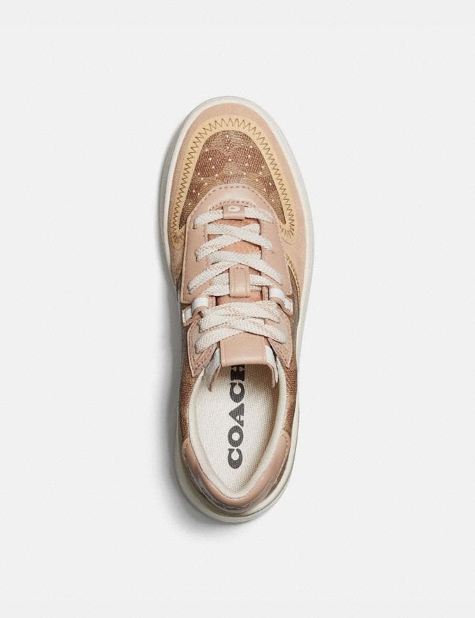 Coach Citysole Court Sneaker Tan/Beechwood Women Shoes Trainers Alternate View 2