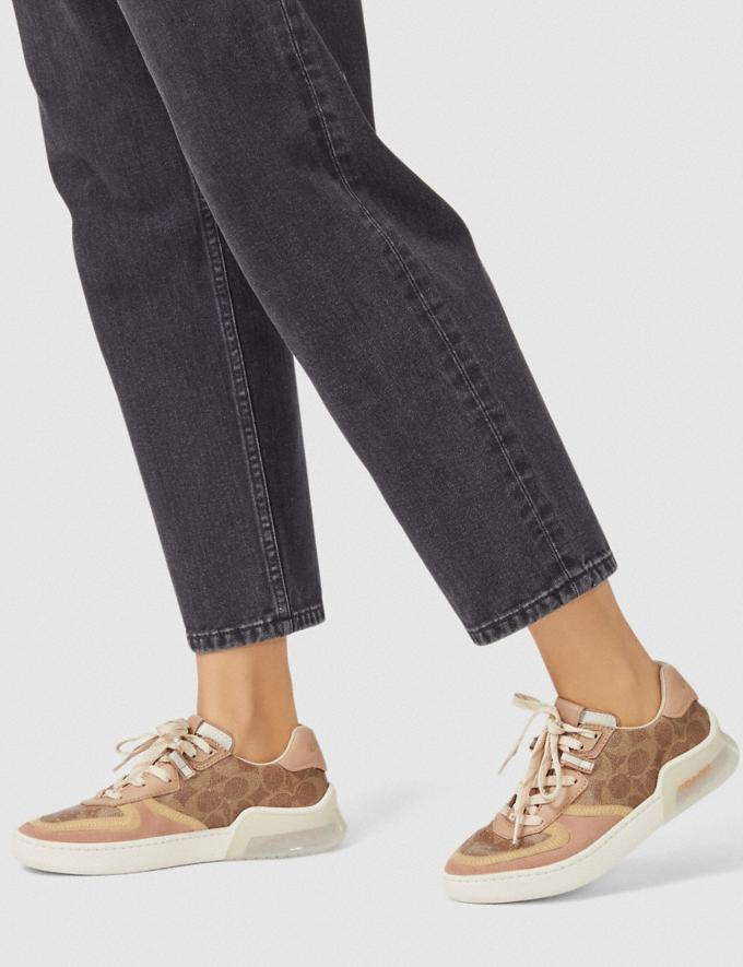 Coach Citysole Court Sneaker Tan/Beechwood New Featured Jennifer Lopez's Picks Alternate View 4