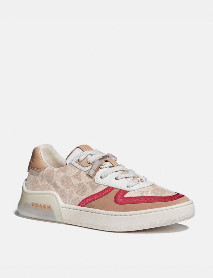 Coach Citysole Court Sneaker Sand/Beechwood Women Shoes Sneakers