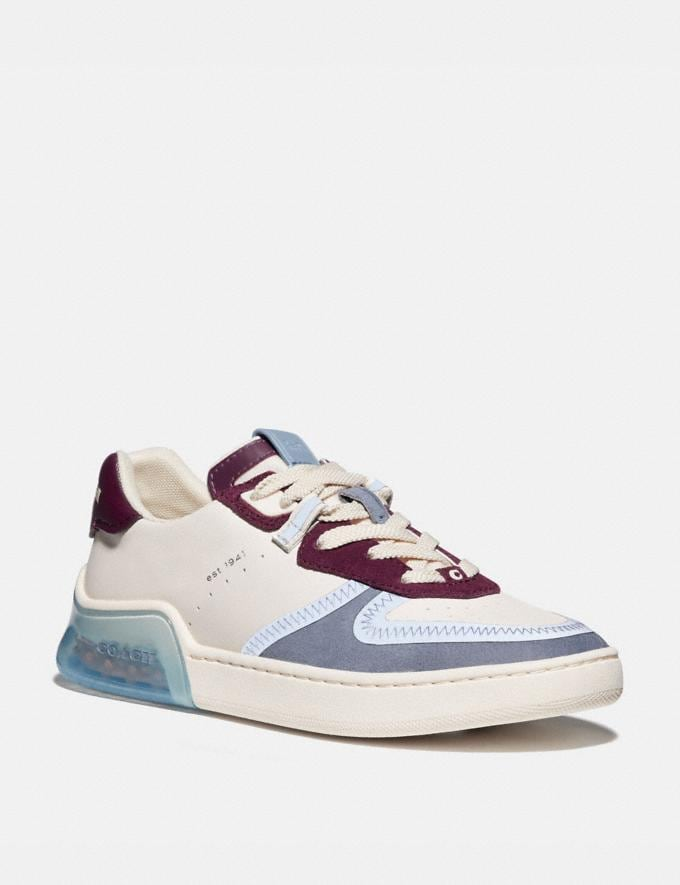 Coach Citysole Court Sneaker Chalk/Boysenberry Women Shoes CitySole