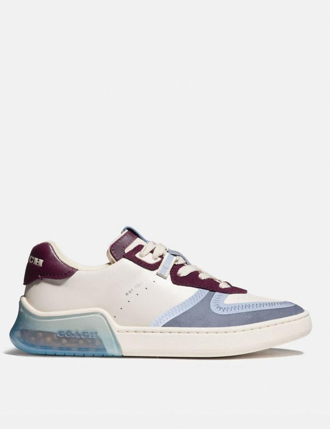 Coach Citysole Court Sneaker Chalk/Boysenberry Women Shoes CitySole Alternate View 1