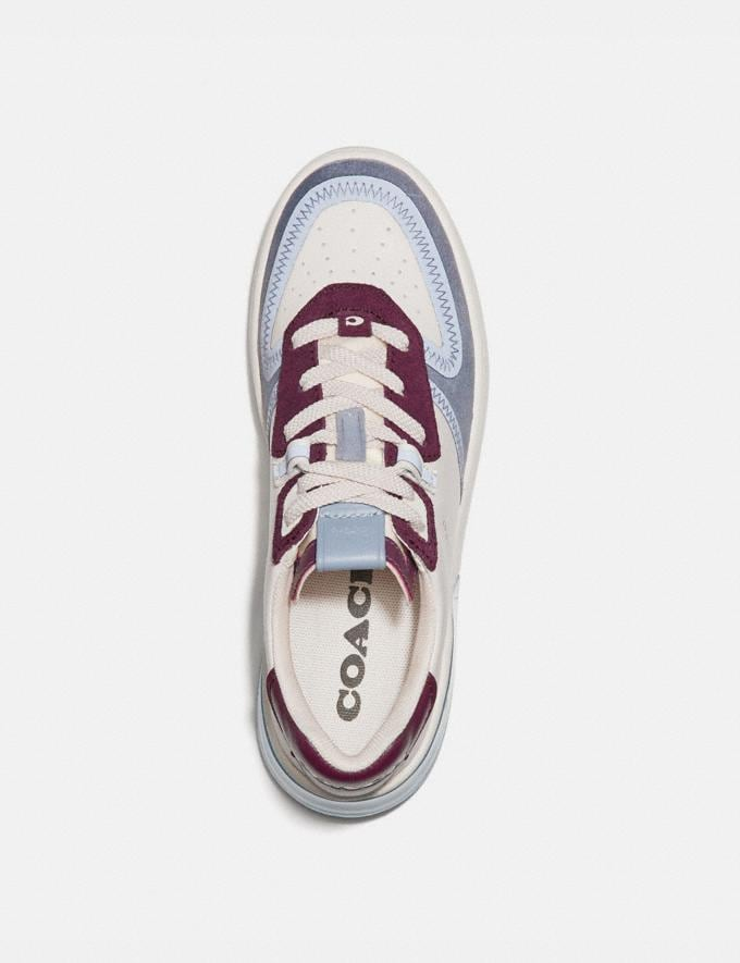 Coach Citysole Court Sneaker Chalk/Boysenberry Women Shoes CitySole Alternate View 2