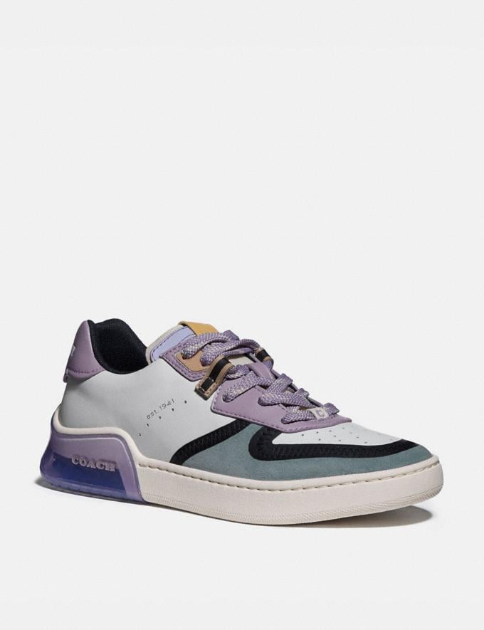 Coach Citysole Court Sneaker White/Soft Lilac Women Shoes CitySole