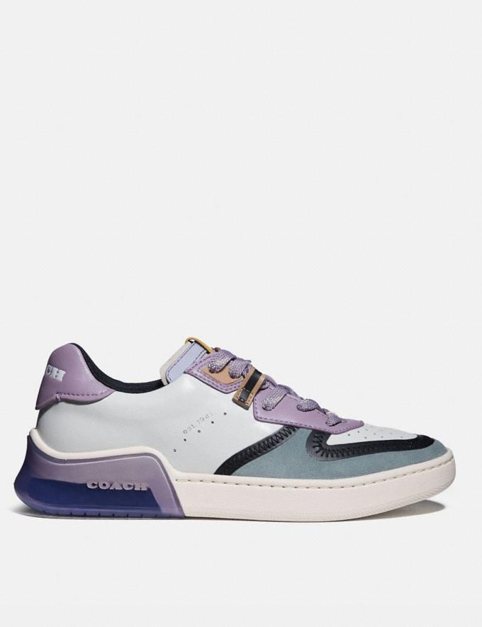 Coach Citysole Court Sneaker White/Soft Lilac Women Shoes CitySole Alternate View 1