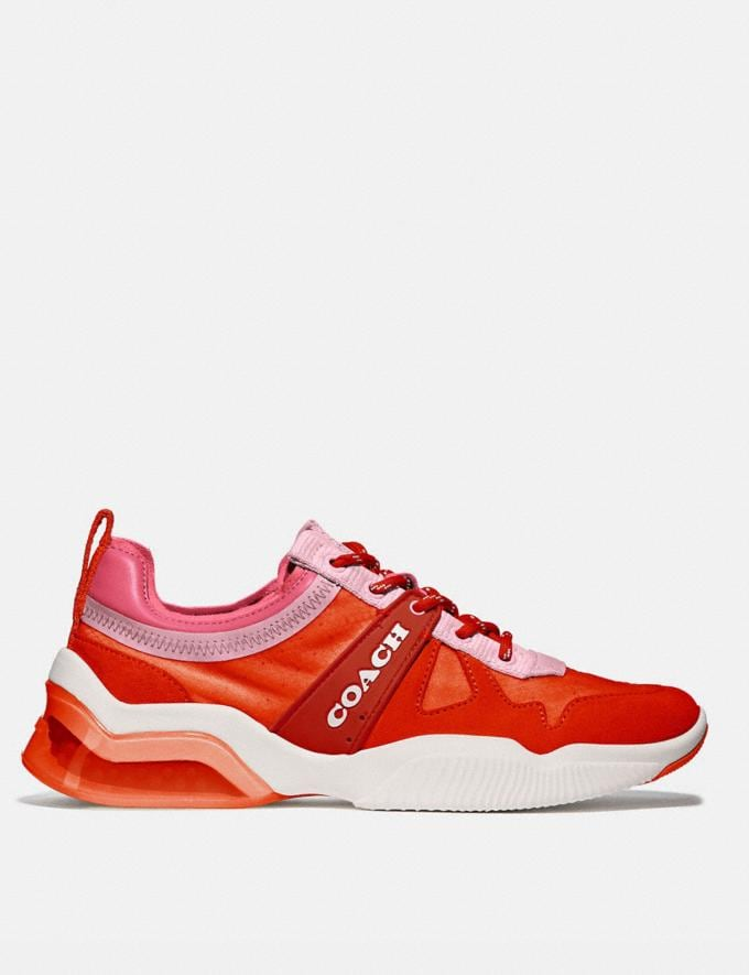 Coach Citysole Runner Geranium/Orchid Women Shoes Trainers Alternate View 1