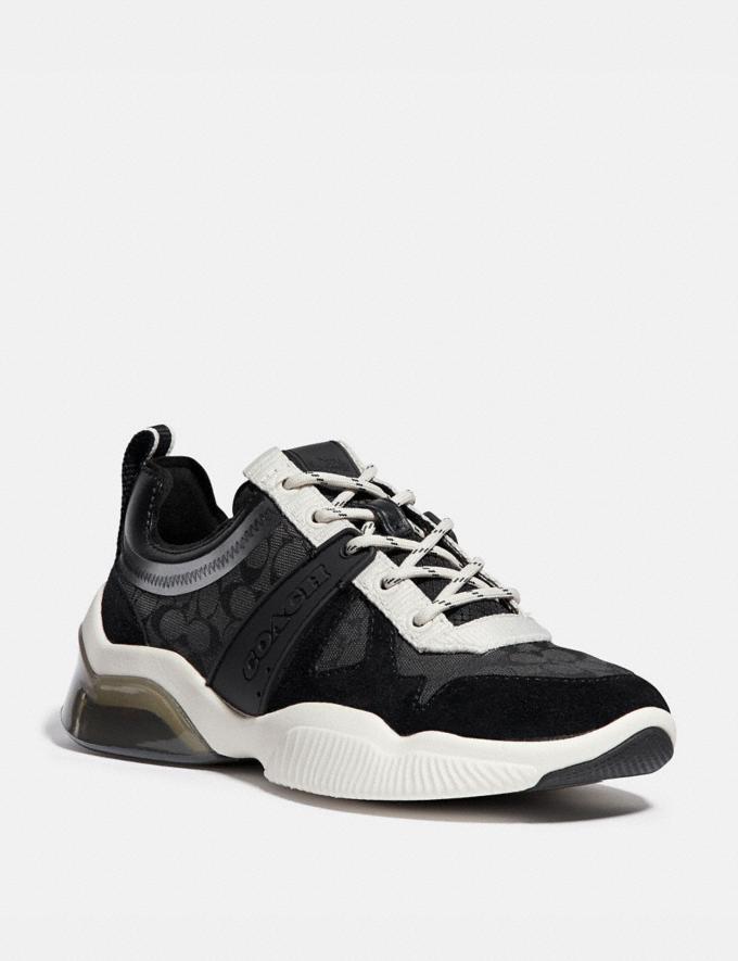 Coach Runner Citysole Craie Noire Femme Chaussures Tennis