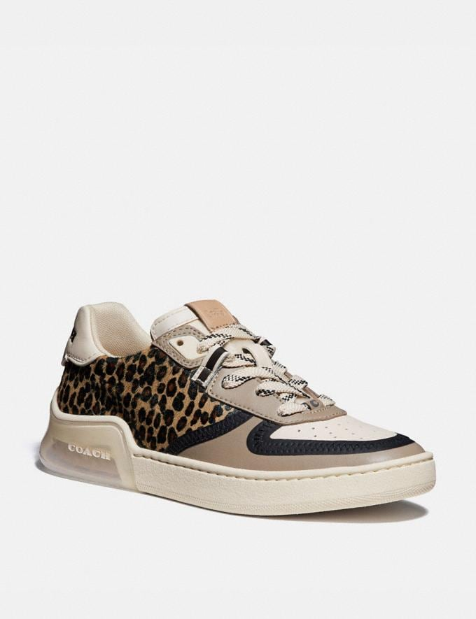 Coach Citysole Court Sneaker Natural/Beechwood Women Shoes CitySole