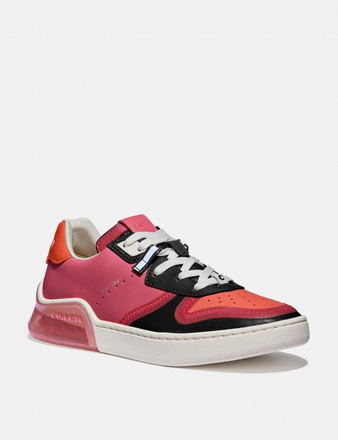 Coach Citysole Court Sneaker Orchid/Geranium Women Shoes Sneakers