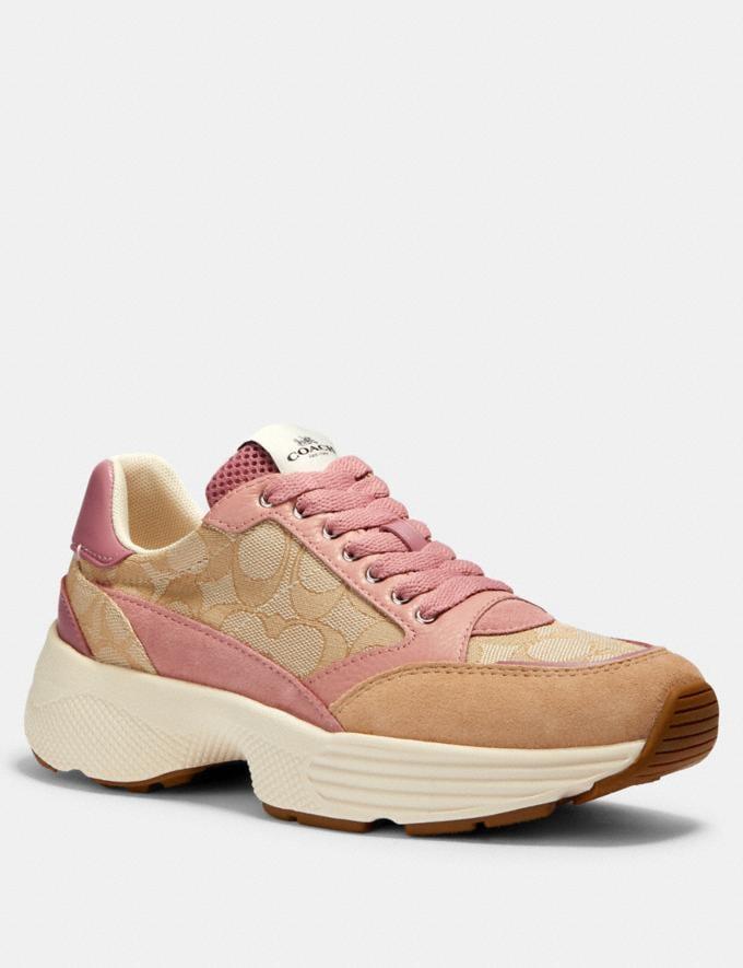 Coach C152 Tech Runner Light Khaki/Pink