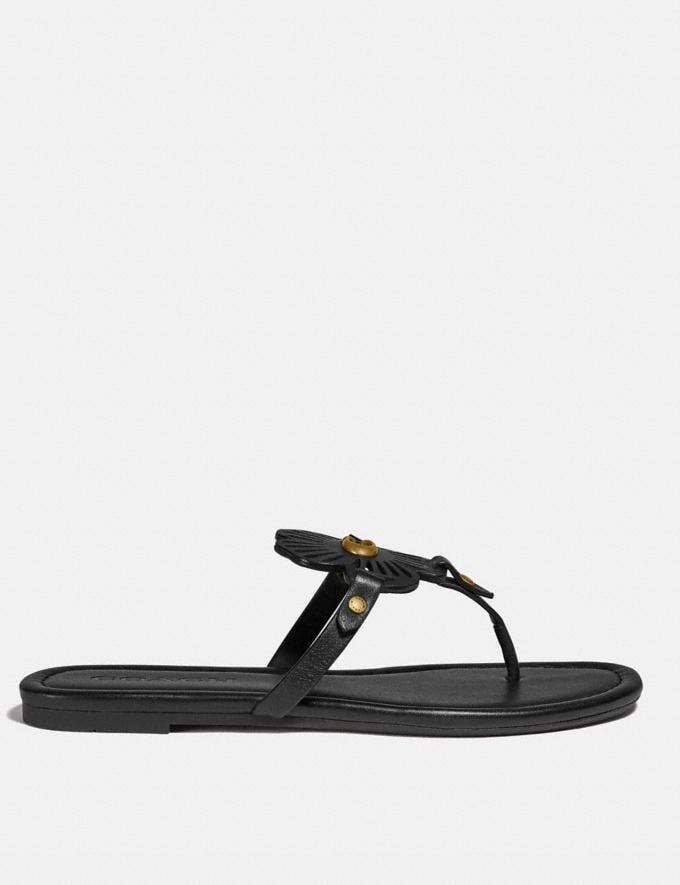 Coach Julia Sandal Black New Women's New Arrivals Shoes Alternate View 1