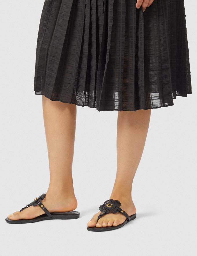 Coach Julia Sandal Black Women Shoes Alternate View 4