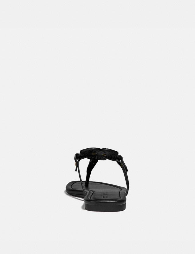 Coach Julia Sandal Black New Women's New Arrivals Shoes Alternate View 3