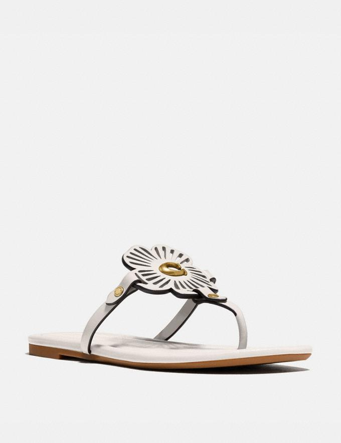 Coach Julia Sandal Chalk Women Shoes