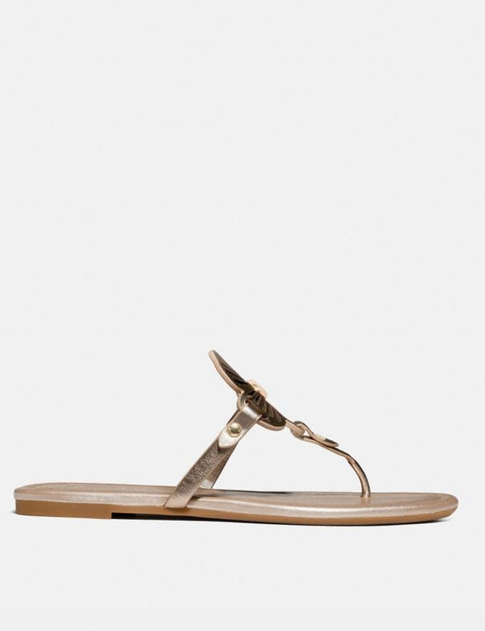 Coach Julia Sandal Champagne Women Shoes Sandals Alternate View 1