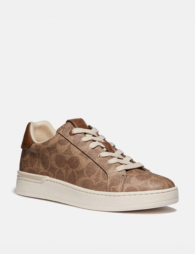Coach Lowline Luxe Low Top Sneaker Tan Women Shoes CitySole