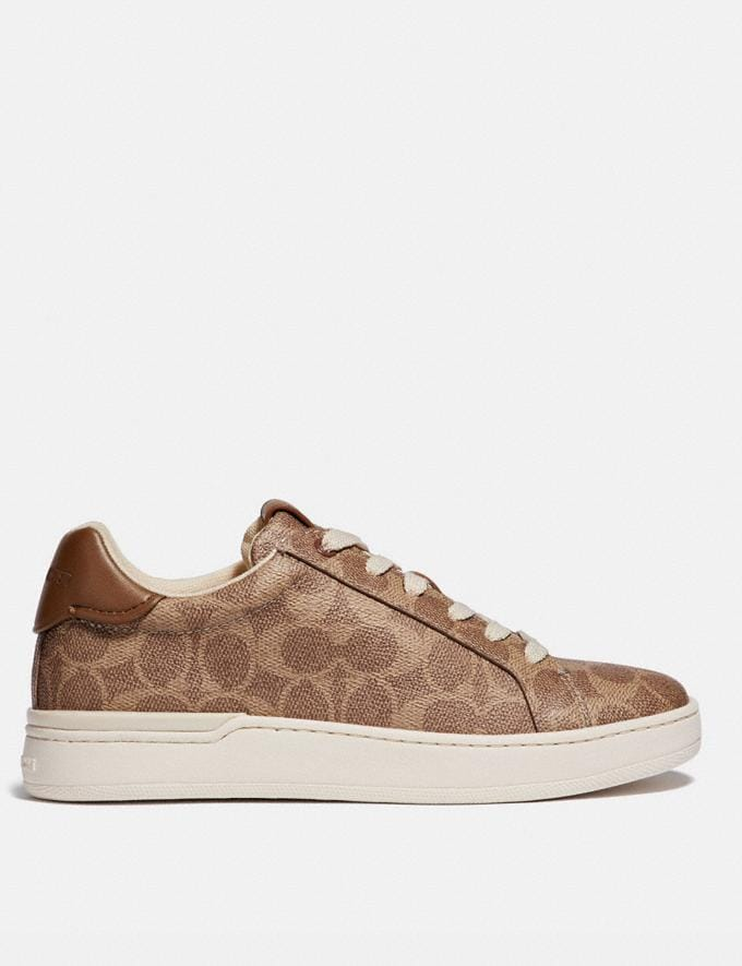 Coach Lowline Luxe Low Top Sneaker Tan Women Shoes CitySole Alternate View 1