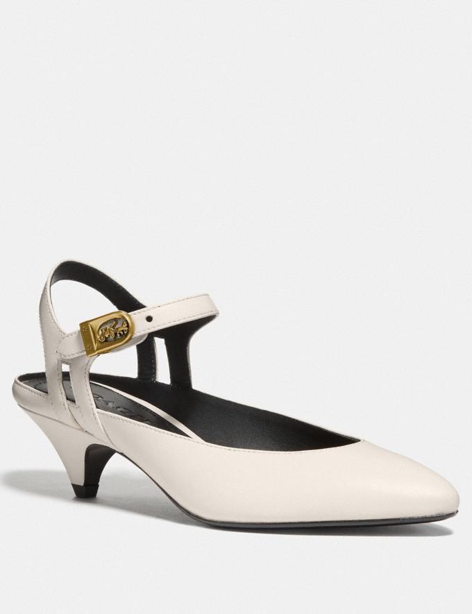 Coach Ankle Strap Heel Chalk Women Shoes Heels