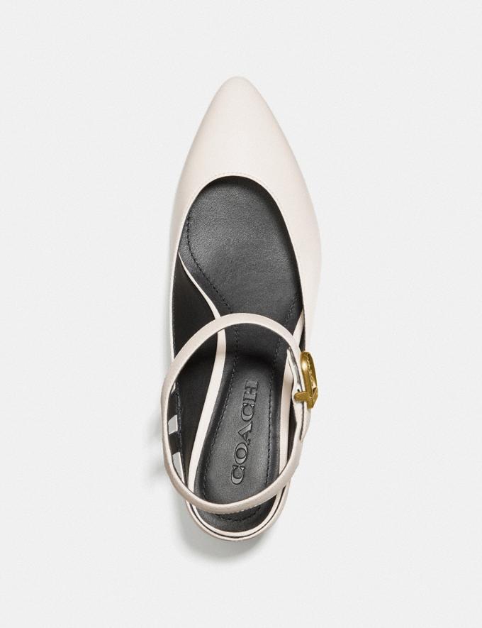 Coach Ankle Strap Heel Chalk Women Shoes Heels Alternate View 2