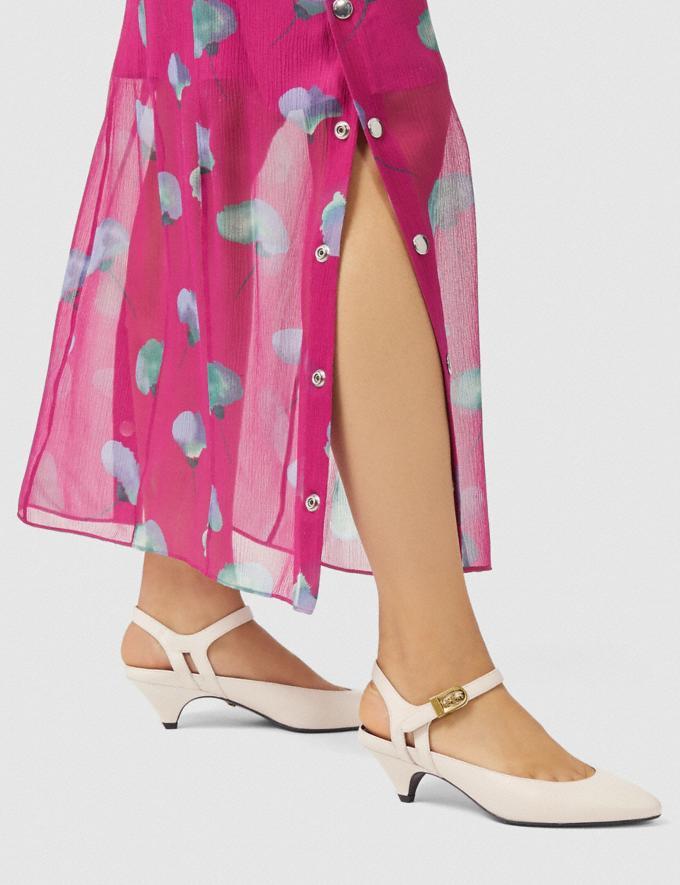 Coach Ankle Strap Heel Chalk Women Shoes Heels Alternate View 4
