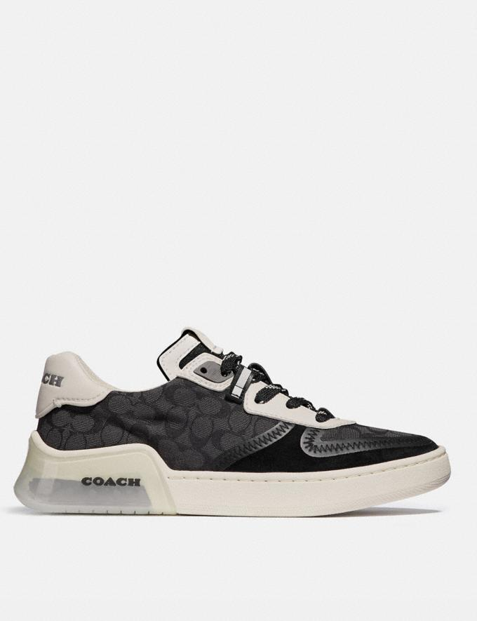 Coach Citysole Court Sneaker Black/Chalk Women Shoes CitySole Alternate View 1