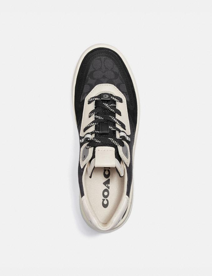 Coach Citysole Court Sneaker Black/Chalk Women Shoes CitySole Alternate View 2