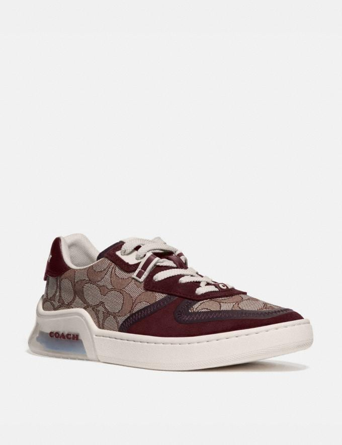 Coach Citysole Court Sneaker Burgundy Women Shoes Sneakers