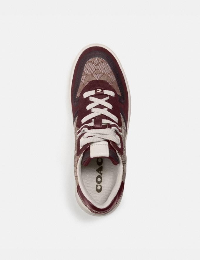 Coach Citysole Court Sneaker Burgundy Women Shoes Sneakers Alternate View 2