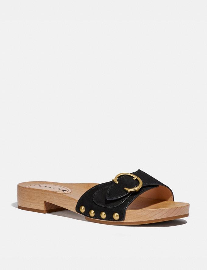 Coach Bleeker Sandal Black Women Shoes Sandals